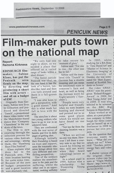 Film-maker puts town on the national map