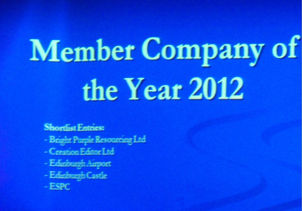 Member Company of the Year 2012 shortlisted